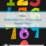 preschool numbers re homeschooling PreK math