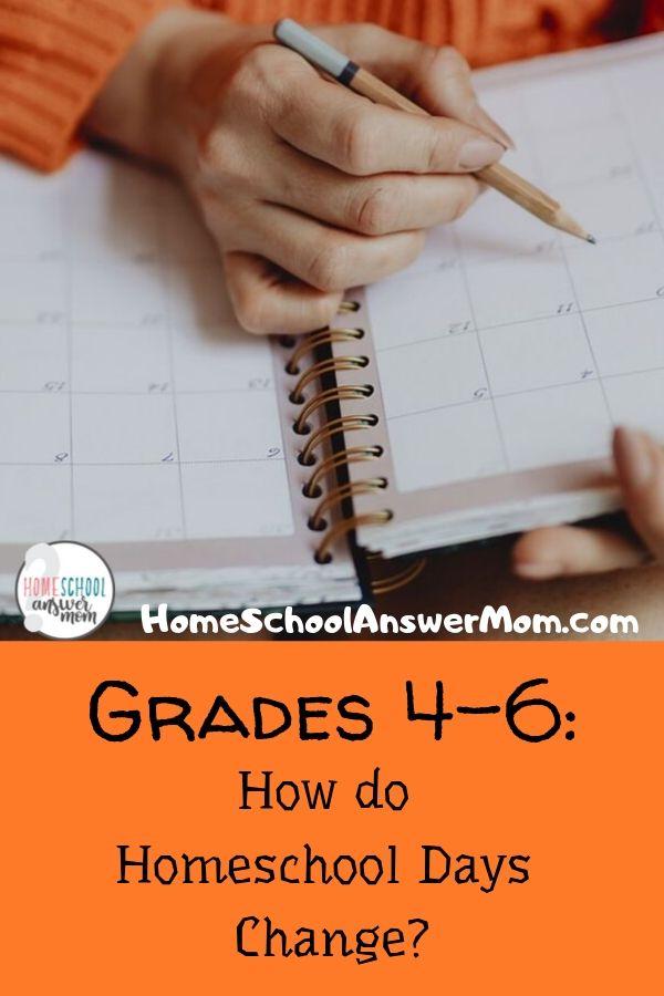 Homeschool mom planning gr 4-6