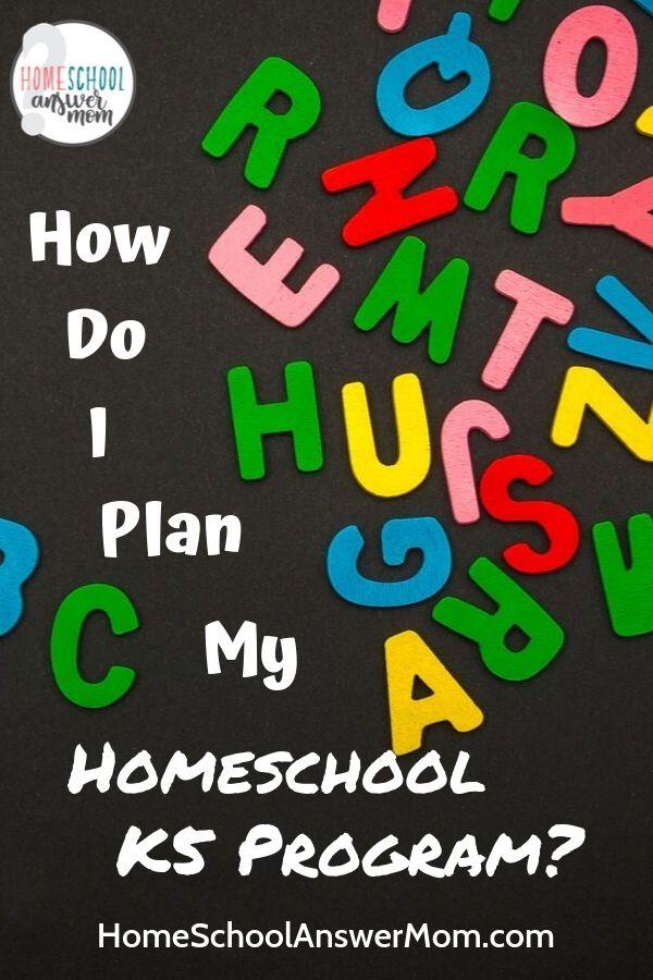 Alphabet re Homeschooling K5
