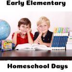 Early Elementary Students during a homeschool day