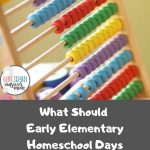 Math resource for early elementary homeschool learning